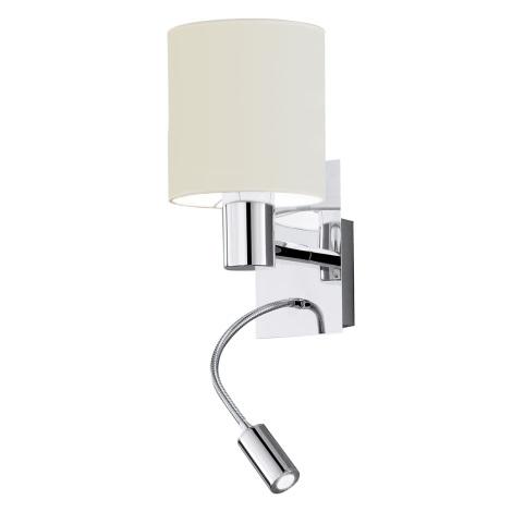 EGLO 90925 - nástenné svietidlo HALVA 1xE27/40W biela