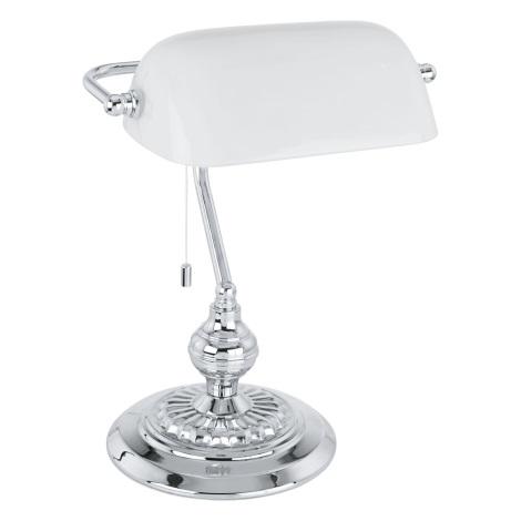 Eglo 90968 - Stolná lampa BANKER E27/60W