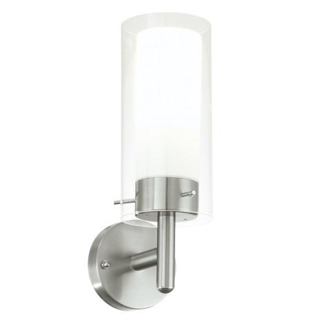 EGLO 91111 - vonkajšie nástenné svietidlo FOSSALTA 1xE27/15W biela