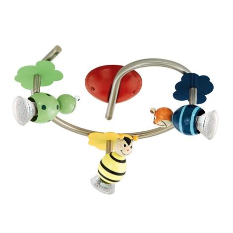Eglo 93142 - LED detské bodové svietidlo TAYA 1 3xGU10/3W/230V