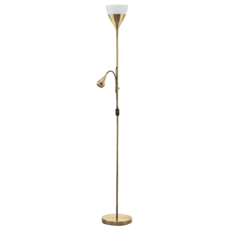 Eglo 93213 - Stojacia lampa SPELLO 2 1xE27-LED/7W + GU10-LED/3W