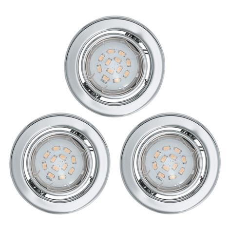 Eglo 93236 - SADA 3x LED podhľadové svietidlo IGOA 1xGU10/5W/230V