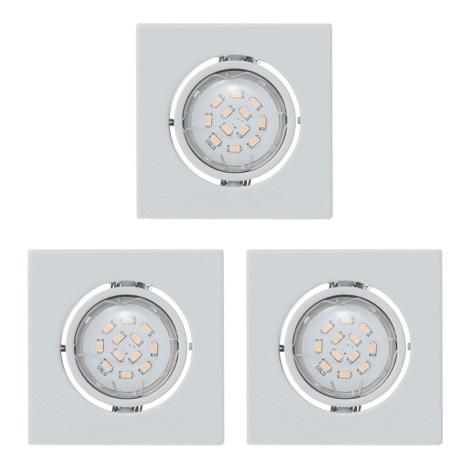 Eglo 93245 - SADA 3x LED podhľadové svietidlo IGOA 3xGU10/5W/230V