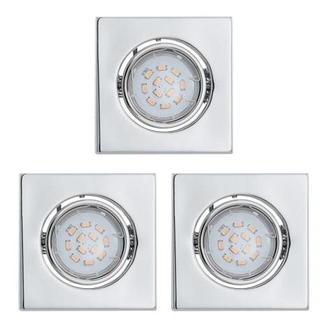 Eglo 93246 - SADA 3x LED podhľadové svietidlo IGOA 1xGU10/5W/230V
