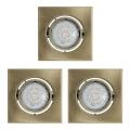 Eglo 93248 - SADA 3x LED podhľadové svietidlo IGOA 3xGU10/5W/230V