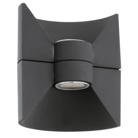 Eglo 93368 - LED nástenné svietidlo REDONDO Antracit 2xLED-SMD/2,5W/230V