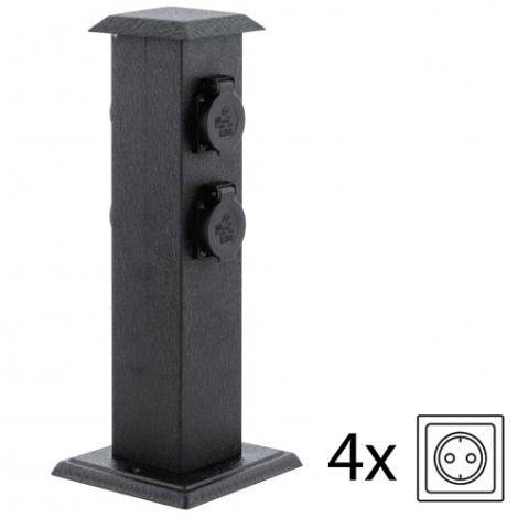 EGLO 93426 - Vonkajšie záhradné stĺpik so zásuvkami