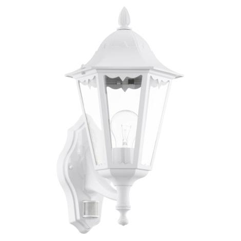 Eglo 93447 - Vonkajšie nástenné svietidlo s čidlom navedie 1xE27/60W/230V