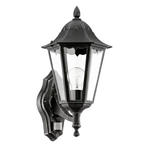 Eglo 93458 - Vonkajšie nástenné svietidlo s čidlom navedie 1xE27/60W/230V