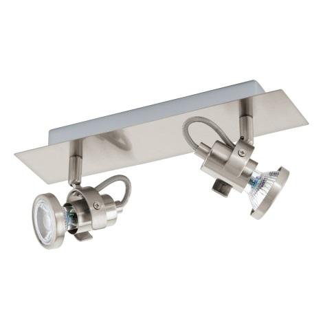 Eglo 94145 - LED Bodové svietidlo TUKON 2xGU10-LED/3,3W/230V