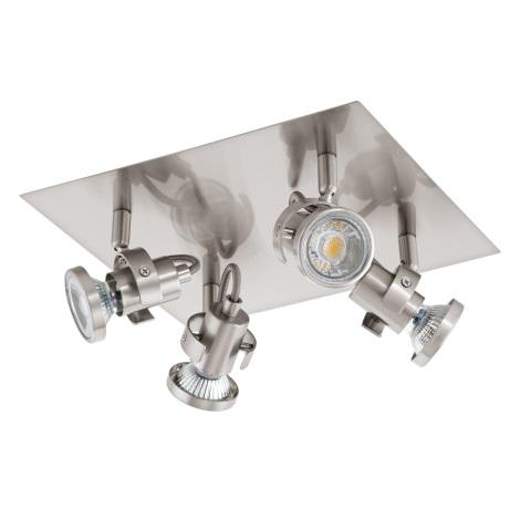Eglo 94147 - LED Bodové svietidlo TUKON 4xGU10-LED/3,3W/230V