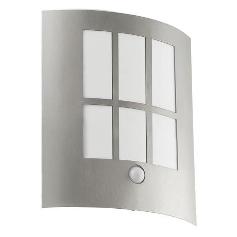 Eglo 94213 - LED Vonkajšie osvetlenie so senzorom CITY LED 1xLED/3,7W/230V IP44