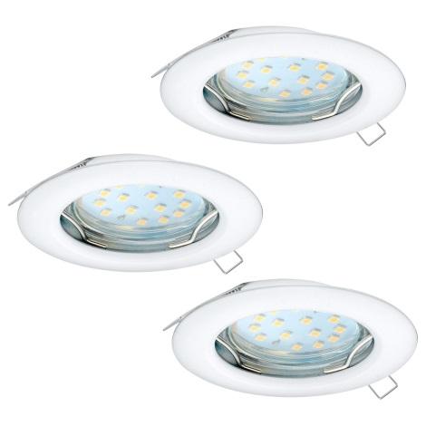 Eglo 94235 - SADA 3x LED Podhľadové svietidlo PENETO 3xGU10-LED/3W/230V
