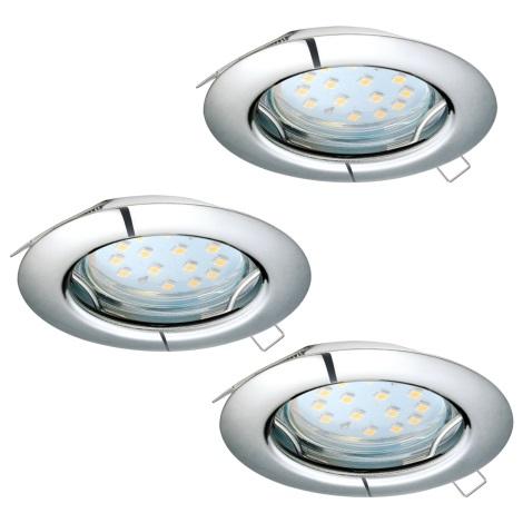 Eglo 94236 - SADA 3x LED Podhľadové svietidlo PENETO 3xGU10-LED/3W/230V