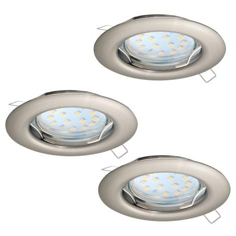 Eglo 94237 - SADA 3x LED Podhľadové svietidlo PENETO 3xGU10-LED/3W/230V