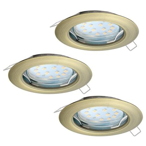 Eglo 94238 - SADA 3x LED Podhľadové svietidlo PENETO 3xGU10-LED/3W/230V