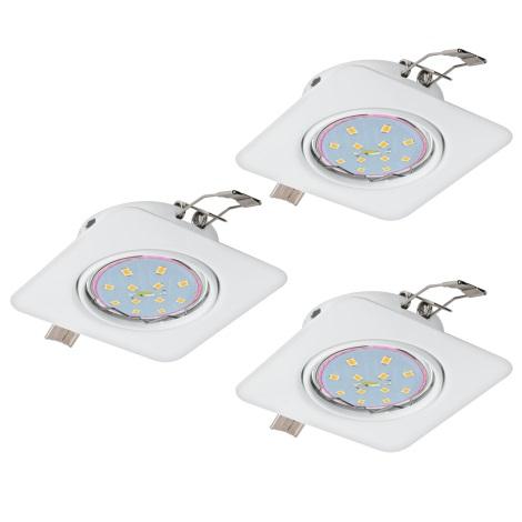 Eglo 94266 - SADA 3x LED Podhľadové svietidlo PENETO 3xGU10-LED/5W/230V