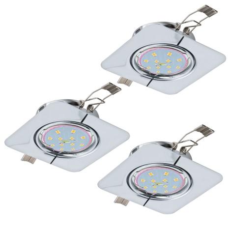 Eglo 94267 - SADA 3x LED Podhľadové svietidlo PENETO 3xGU10-LED/5W/230V