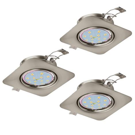Eglo 94268 - SADA 3x LED Podhľadové svietidlo PENETO 3xGU10-LED/5W/230V