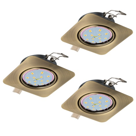 Eglo 94269 - SADA 3x LED Podhľadové svietidlo PENETO 3xGU10-LED/5W/230V