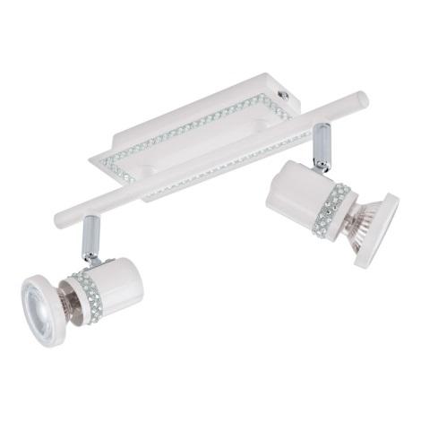 Eglo 94283 - LED Bodové svietidlo BONARES 2xGU10-LED/3,3W/230V