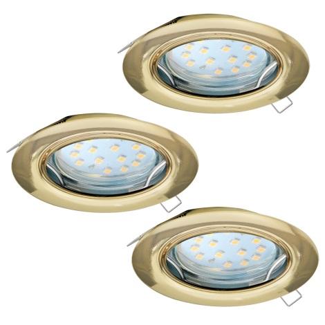 Eglo 94404 - SADA 3x LED Podhľadové svietidlo PENETO 3xGU10-LED/3W/230V