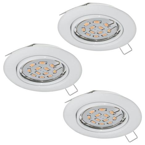 Eglo 94406 - SADA 3x LED Podhľadové svietidlo PENETO 3xGU10-LED/5W/230V