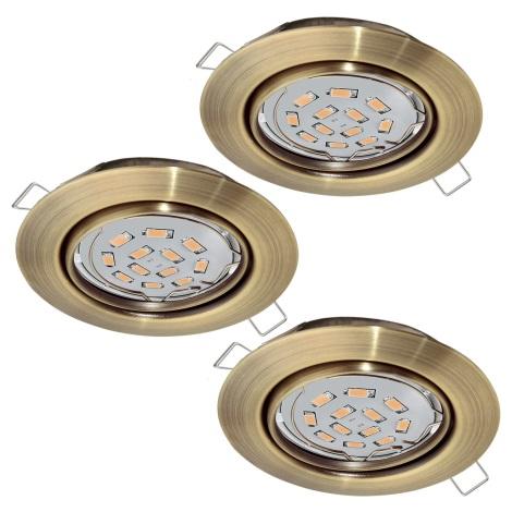 Eglo 94409 - SADA 3x LED Podhľadové svietidlo PENETO 3xGU10-LED/5W/230V