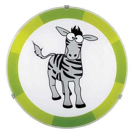 Eglo 94458 - Detské stropné svietidlo BIUBIU 1xE27/60W/230V zebra