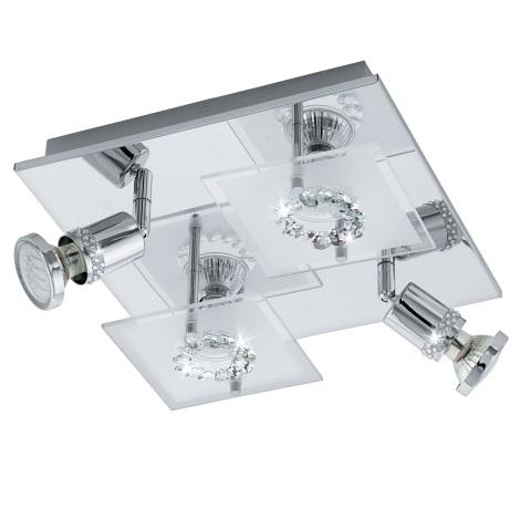 Eglo 94529 - LED bodové svietidlo BALERNA 4xGU10-LED/3W/230V krištáľ