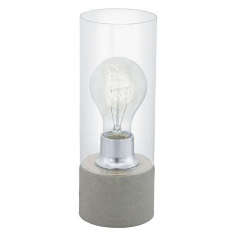 Eglo 94549 - Stolná lampa TORVISCO 1xE27/60W/230V šedá