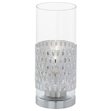 Eglo 94619 - Stolná lampa TORVISCO 1xE27/60W/230V kryštále