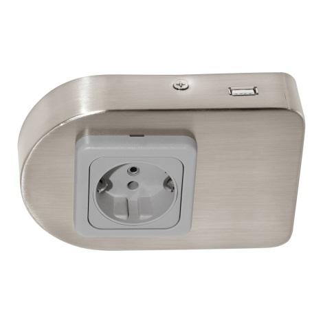 Eglo 94662 - Podlinková zásuvka vr.USB TAXANO