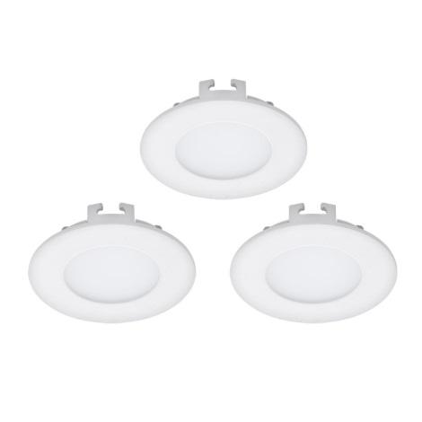 Eglo 94732 - SADA 3x LED Podhľadové svietidlo FUEVA 1 3xLED/2,7W/230V