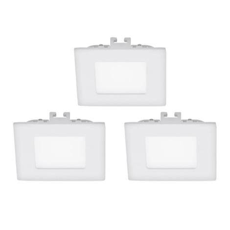 Eglo 94733 - SADA 3x LED Podhľadové svietidlo FUEVA 1 3xLED/2,7W/230V