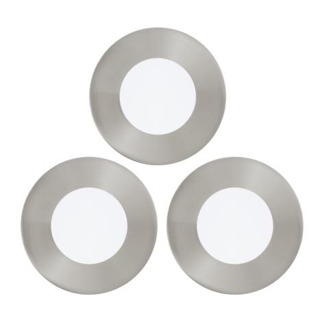Eglo 94734 - SADA 3x LED Podhľadové svietidlo FUEVA 3xLED/2,7W/230V