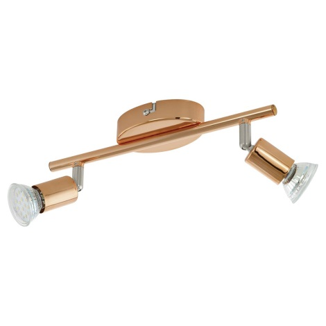 Eglo 94773 - LED bodové svietidlo BUZZ-COPPER 2xGU10/3W/230V