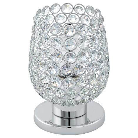 Eglo 94899 - Krištáľová stolná lampa BONARES 1 1xE27/60W/230V