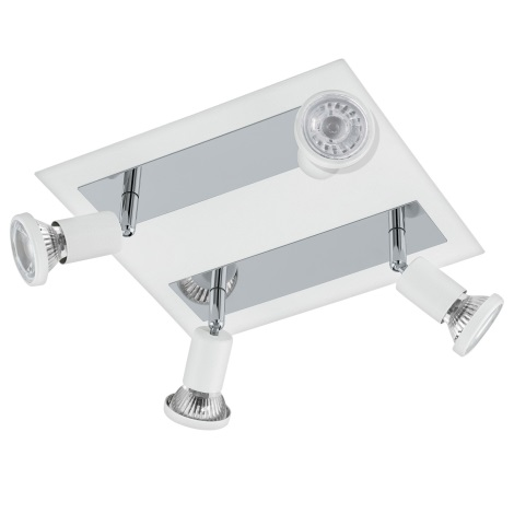 Eglo 94962 - LED Bodové svietidlo SARRIA 4xGU10-LED/5W/230V