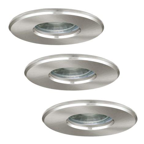 Eglo 94979 - SADA 3x LED Kúpeľňové svietidlo IGOA 3xLED/3,3W/230V