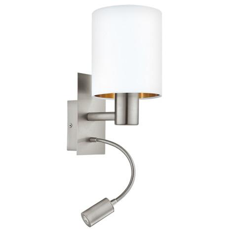 Eglo 95051 - LED nástenné svietidlo MASERLO 1xE27/60W + LED/2,4W