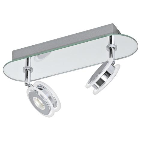 Eglo 95278 - LED Bodové kúpeľňové svietidlo AGUEDA 2xLED/3,3W/230V