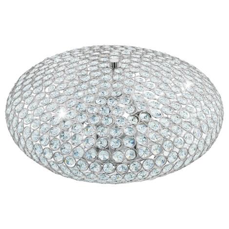 Eglo 95285 - Krištáľové stropné svietidlo CLEMENTE 3xE27/60W/230V