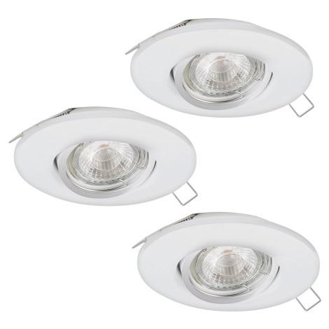 Eglo 95357 - SADA 3x LED podhľadové svietidlo TEDO 3xGU10-LED/5W/230V