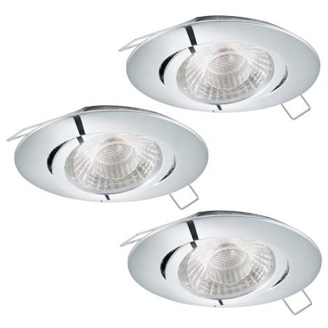 Eglo 95358 - SADA 3x LED podhľadové svietidlo TEDO 3xGU10-LED/5W/230V