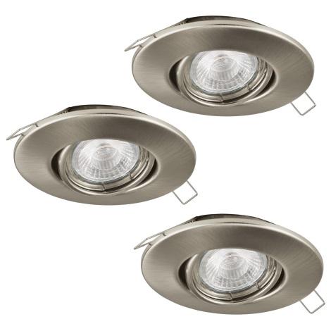 Eglo 95359 - SADA 3x LED podhľadové svietidlo TEDO 3xGU10-LED/5W/230V