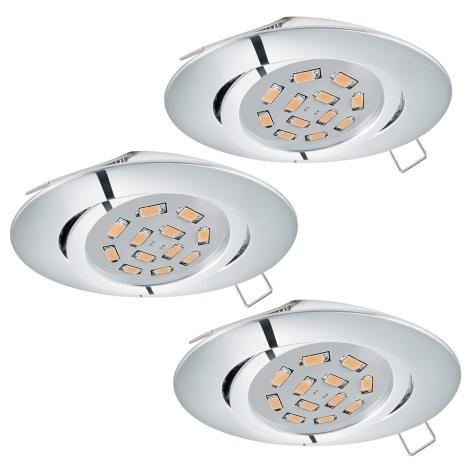 Eglo 95362 - SADA 3x LED podhľadové svietidlo TEDO 3xGU10-LED/5W/230V