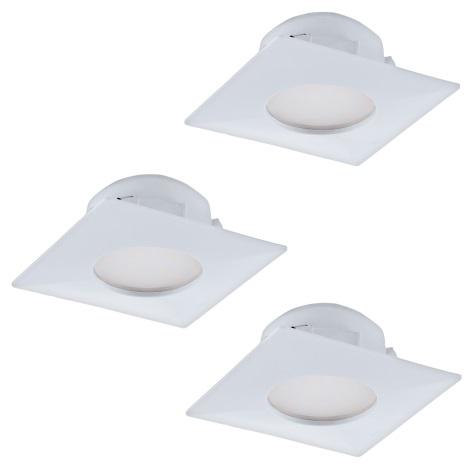 Eglo 95801- SADA 3x LED podhľadové svietidlo PINEDA 3xLED/6W/230V