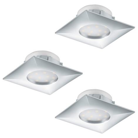 Eglo 95802 - SADA 3x LED podhľadové svietidlo PINEDA 3xLED/6W/230V