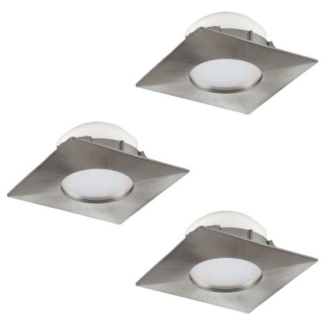 Eglo 95803 - SADA 3x LED podhľadové svietidlo PINEDA 3xLED/6W/230V